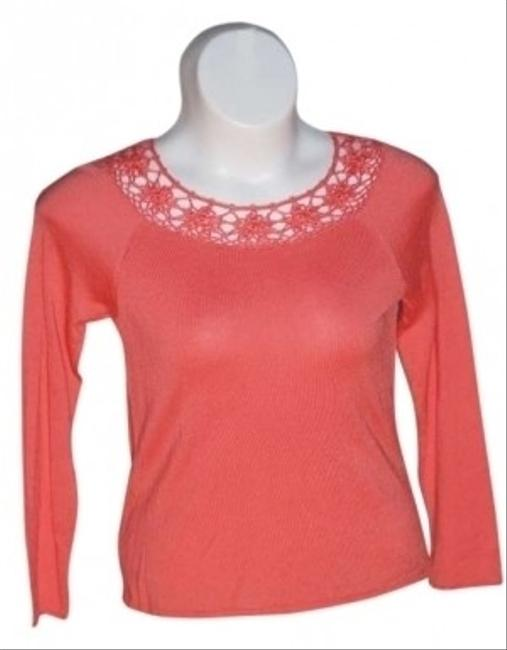 Coldwater Creek Size S Orange/tangerine Color 53% Cotton 47% Rayon Sweater