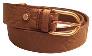 Louis Vuitton NEW Louis Vuitton Gracieuse Empreinte Belt Size 80/32 Caramel
