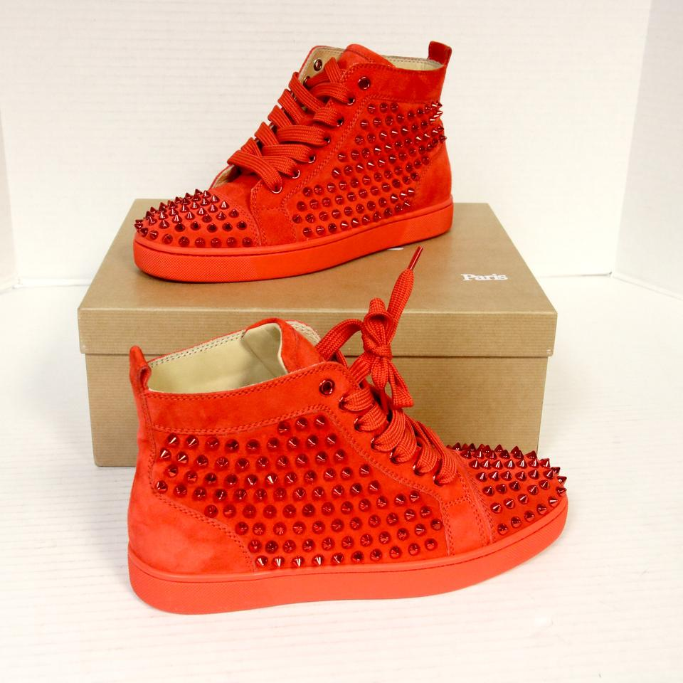 2484964031a8 Christian Louboutin Red Poppy Limited Ed. Louise Flat Capucine Suede ...