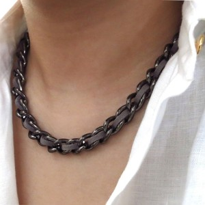 Elliot Francis Edgy gunmetal necklace