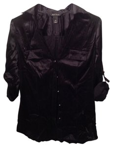 White House | Black Market Button Down Shirt Black