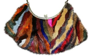Clara Kasavina Mink Evening Multicolored Clutch