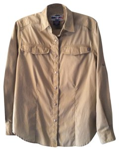 ExOfficio Khaki Long-Sleeve Snap-Up