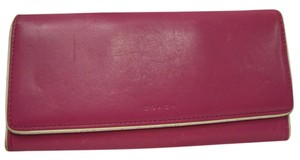 Coach COACH LEATHER CLUTCH WALLET