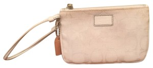 Coach Signature Wristlet in White