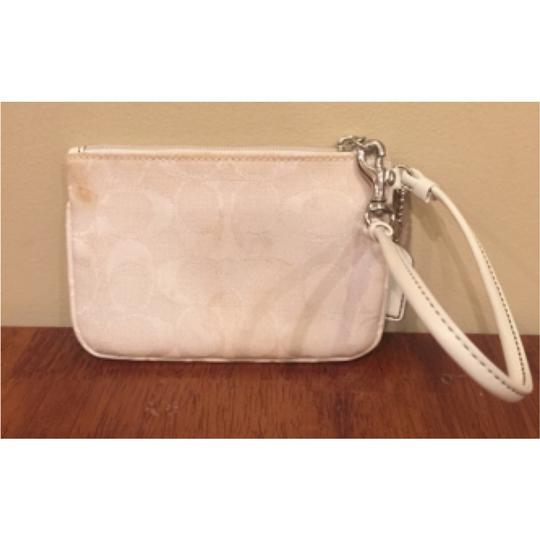 Coach Signature Spring Summer Wristlet in White Image 1