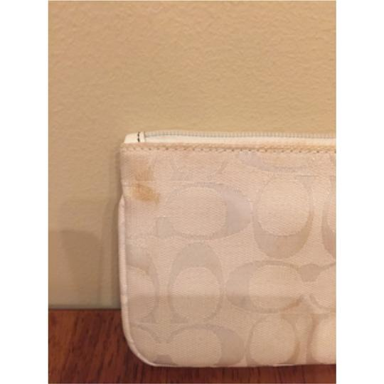 Coach Signature Spring Summer Wristlet in White Image 2