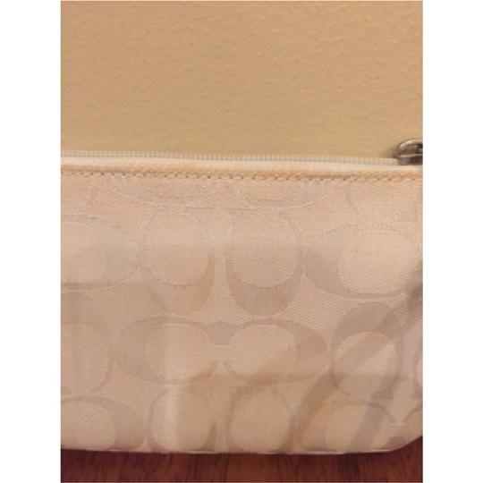 Coach Signature Spring Summer Wristlet in White Image 3