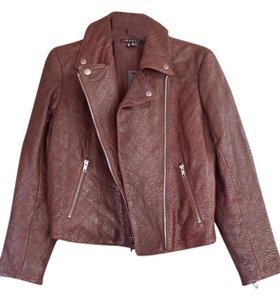 Theory Leather Auburn Smoke Leather Jacket