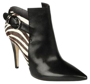 Via Spiga Bootie Boot Animal Fall Black/Brown & White Zebra Print Boots
