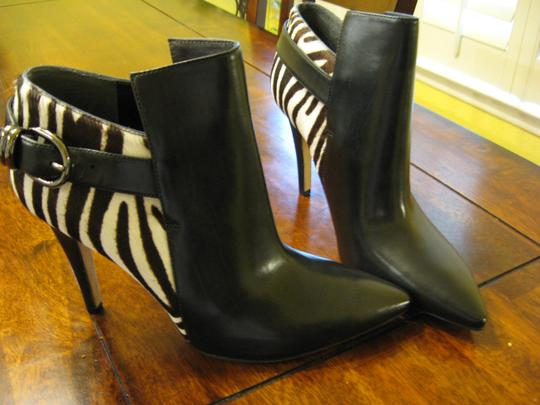 Via Spiga Animal Fall Black/Brown & White Zebra Print Boots