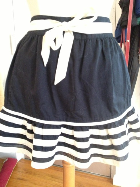 Marc by Marc Jacobs Striped Mini Skirt Black and White