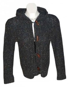 SO (gsjc) Cardigan Size L Dark Grey Color With Multi-color Flecks Throughout Cabel Knit Throughout Sweatshirt