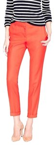 J.Crew J. Crew Cafe Wool Capris Red