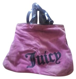Juicy Couture purple w/ black handles Travel Bag