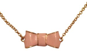 Kate Spade Light Pink Bows Necklace