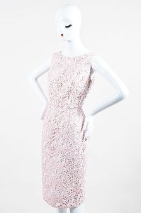 Dior Christian Lace Overlay Sleeveless Sheath Dress