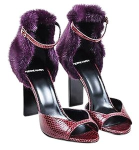 Pierre Hardy Burgundy Purple Sandals