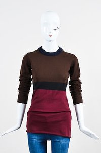 Marni Moka Brown Black Maroon Sweater