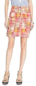 Tommy Hilfiger Patc Patchwork Soft New Mini Skirt Orange