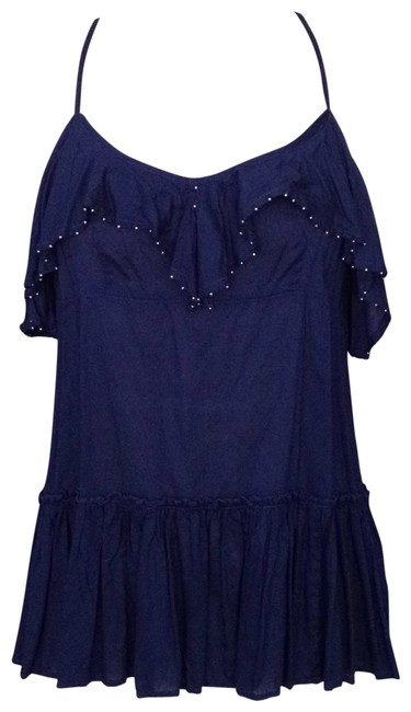 Preload https://item1.tradesy.com/images/free-people-navy-tunic-with-ruffle-and-beading-details-tank-topcami-size-4-s-116820-0-0.jpg?width=400&height=650