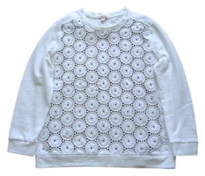 Gap Sweatshirt Sweatshirts Lace Top white