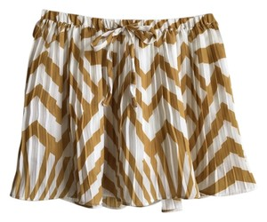 BB Dakota White Chevron Festival Mini Skirt Yellow