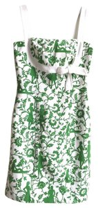 Willi Smith short dress Green White Floral on Tradesy
