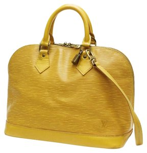 Louis Vuitton Alma Epi Satchel in Yellow