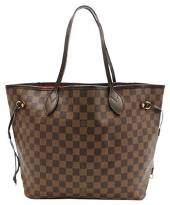 Louis Vuitton Neverfull Mm Damier Ebene Leather Canvas Signature New Style Excellent Condition Tote in Brown
