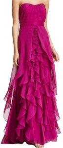 Dalia MacPhee Strapless Chiffon Pageant Gown Dress