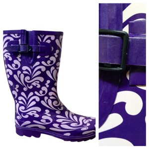 Rasolli Wellies Purple with Design Boots