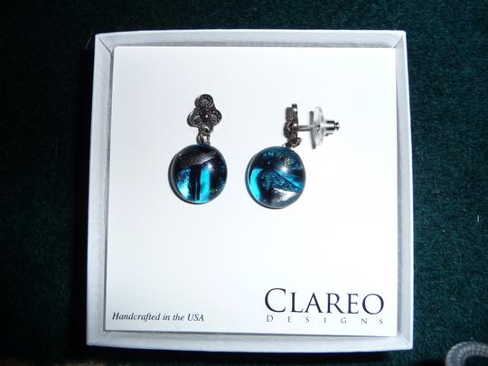 Clareo Designs Fused Glass earrings