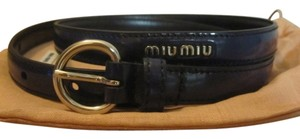 Miu Miu Miu Miu Slim Leather Belt