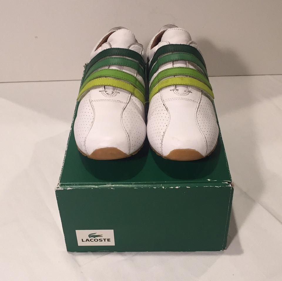 abb742b5ea54 Lacoste White Green Mystere Punched Sneakers Size US 7 Regular (M