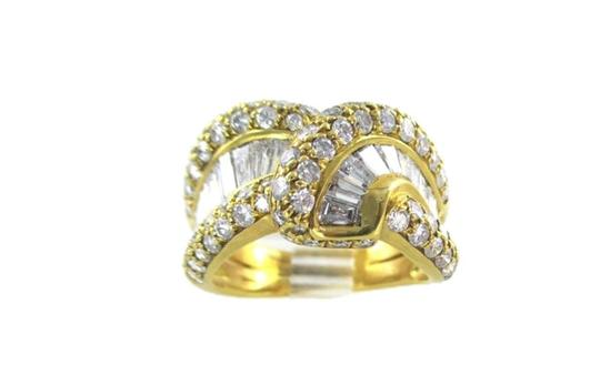 Damiani's DAMIANI 18KT SOLID YELLOW GOLD RING 90 DIAMONDS 3.25 CT WEDDING BAND DESIGNER