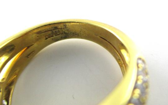 Damiani's DAMIANI 18KT SOLID YELLOW GOLD RING 90 DIAMONDS 3.25 CT WEDDING BAND DESIGNER Image 1