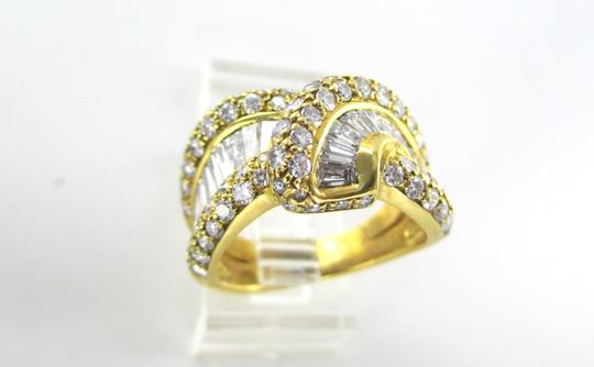 Damiani's DAMIANI 18KT SOLID YELLOW GOLD RING 90 DIAMONDS 3.25 CT WEDDING BAND DESIGNER Image 2