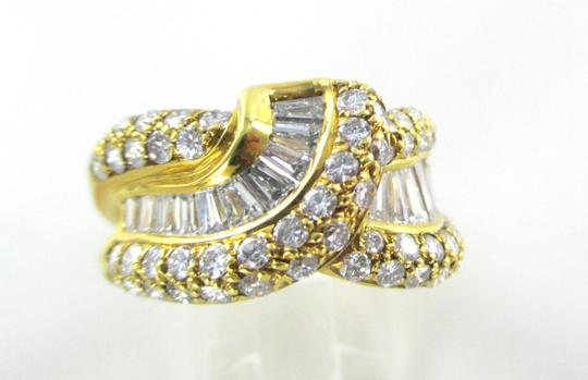 Damiani's DAMIANI 18KT SOLID YELLOW GOLD RING 90 DIAMONDS 3.25 CT WEDDING BAND DESIGNER Image 3