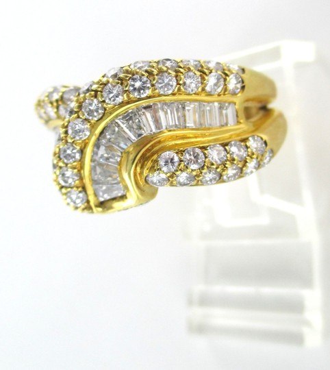 Damiani's DAMIANI 18KT SOLID YELLOW GOLD RING 90 DIAMONDS 3.25 CT WEDDING BAND DESIGNER Image 4