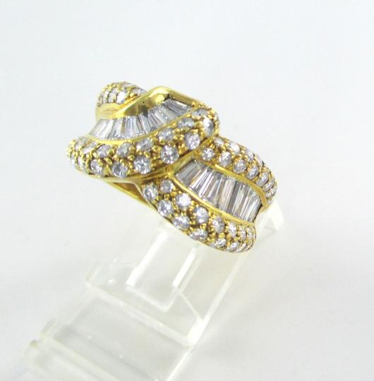 Damiani's DAMIANI 18KT SOLID YELLOW GOLD RING 90 DIAMONDS 3.25 CT WEDDING BAND DESIGNER Image 5