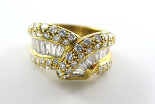 Damiani's DAMIANI 18KT SOLID YELLOW GOLD RING 90 DIAMONDS 3.25 CT WEDDING BAND DESIGNER Image 6