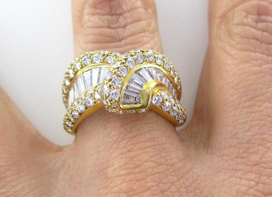 Damiani's DAMIANI 18KT SOLID YELLOW GOLD RING 90 DIAMONDS 3.25 CT WEDDING BAND DESIGNER Image 7