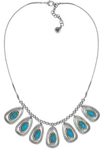 Sam Edelman Multi Oval Drop Necklace