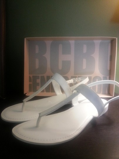 BCBGeneration Leather white Sandals