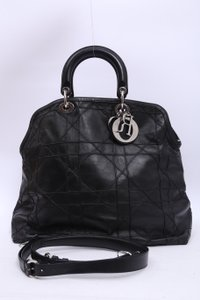 Dior Leather Granville Tote in Black