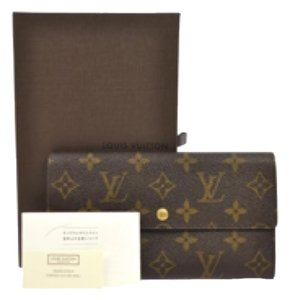 Louis Vuitton Louis Vuitton Sarah Wallet Coin Card Long Wallet Monogram Canvas