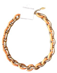 Coldwater Creek Coldwater Creek Gold and Peach Oval Link Necklace