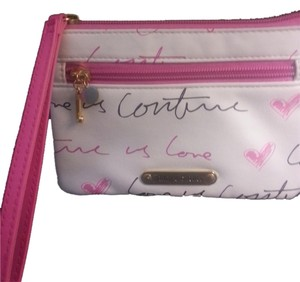 Juicy Couture Wristlet in white/pink