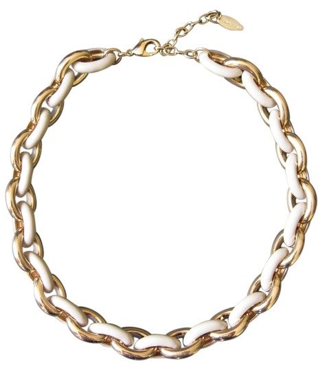 Coldwater Creek Coldwater Creek Gold and Taupe Oval Link Necklace